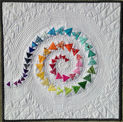 Spiral Geese Mini Quilt Free Tutorial