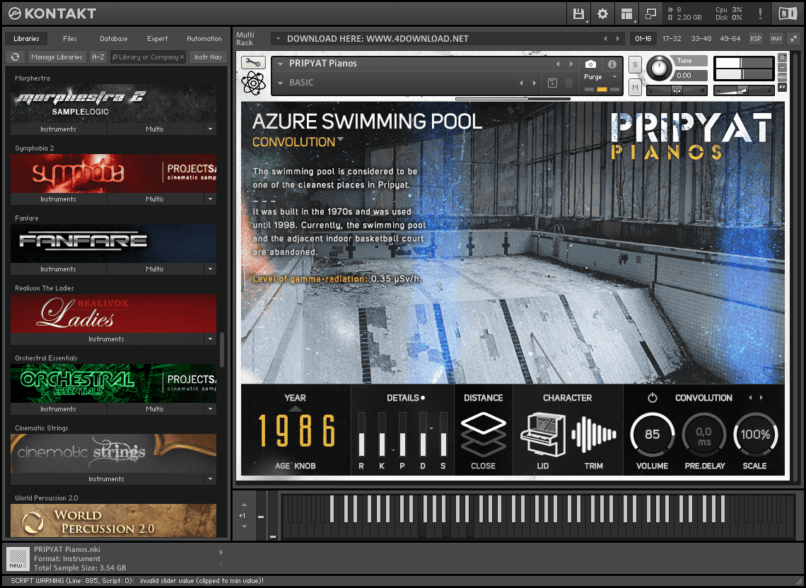 Strix Instruments - PRIPYAT Pianos v1.0.1 KONTAKT Library