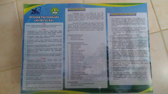 Brosur Program Pascasarjana UNRI