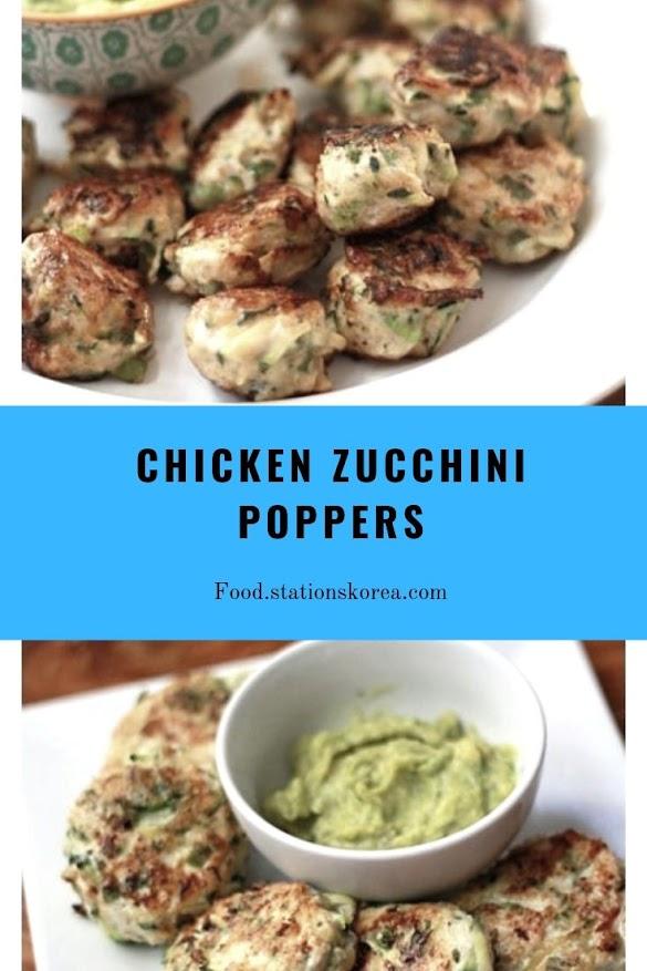 CHICKEN ZUCCHINI POPPERS