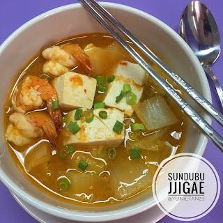 Ide Resep Masak Sundubu Jingae  alias Sup Tahu Pedas Ala Korea