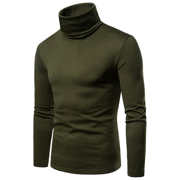 Turtle Neck Long Sleeves T-shirt