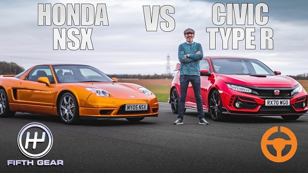 Honda NSX 2005 vs Honda Civic Type R 2018