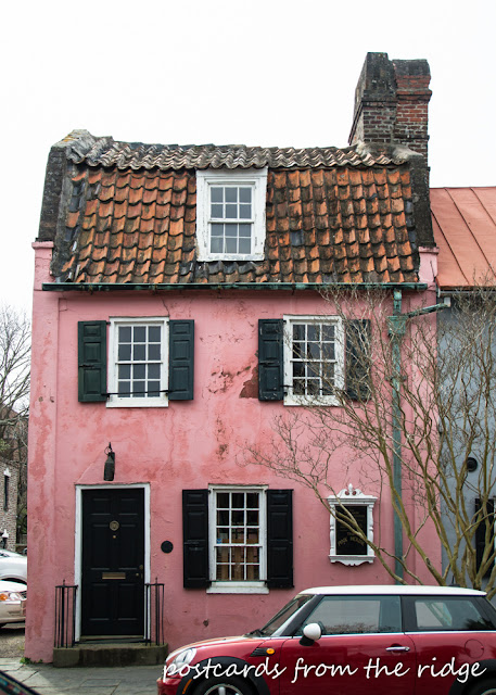 Pink House - Charleston, SC. Circa 1790. Postcards from the Ridge.