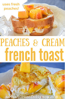 peaches and cream french toast using fresh peaches