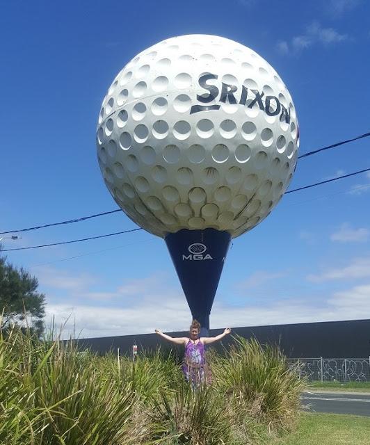 Cheltenham | BIG Golf Ball. Capital Golf Course business sculpture