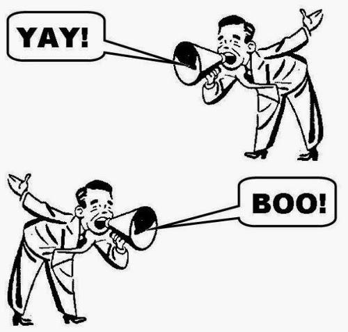 Steinzeit-Unternehmenskommunikation: Beschallung statt Dialog.