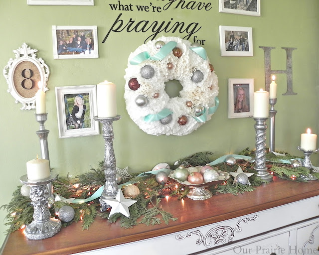 Dollar Tree Home Decor Ideas Part - 15: Coffee Filter Christmas Wreath