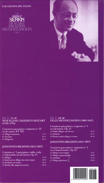 Genios del Piano-16 y Final-Rudolf Serkin-trasera
