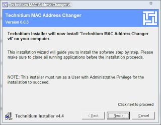 Menggunakan TMAC Address Changer dan BUG Ads