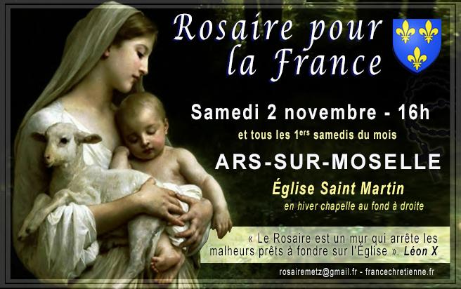 Rosaire pour la France - Ars-sur-Moselle (57) - 1ers sam. du mois 16h - église Saint Martin 11%2Brosaire%2Bfrance%2Bnovembre%2B2019