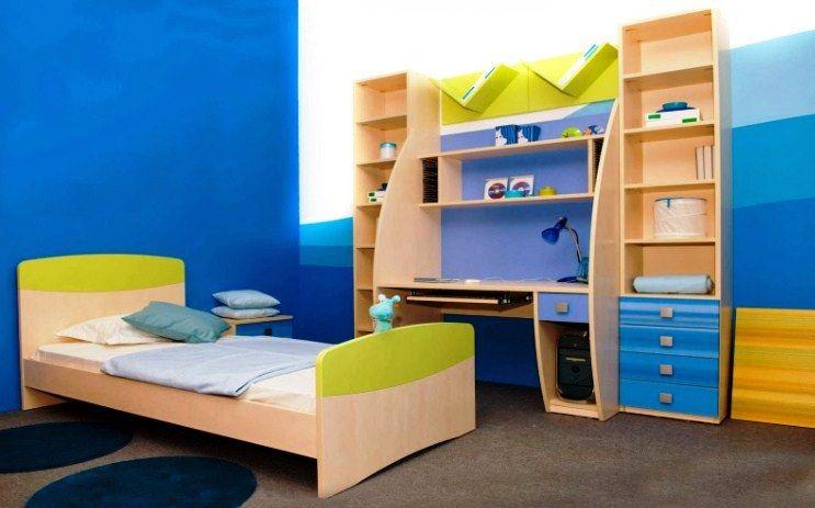 Kamar Tidur Anak Laki-Laki Minimalis Warna Biru