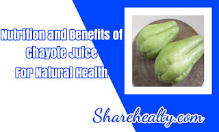 Nutrition and Benefits of Chayote Juice For Natural Health