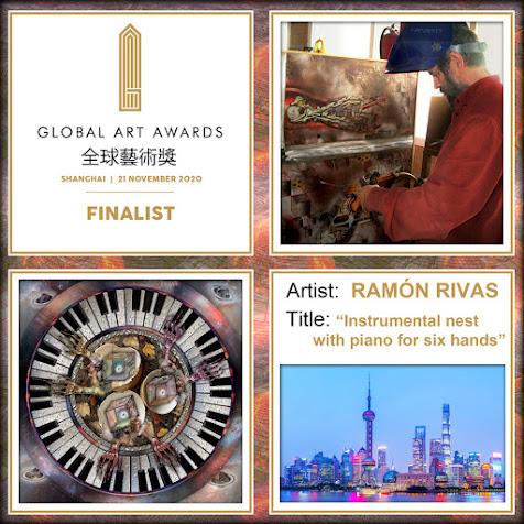 """The Global Art Awards, Ramón Rivas y su obra """"Nido instrumental con piano para seis manos"""""""