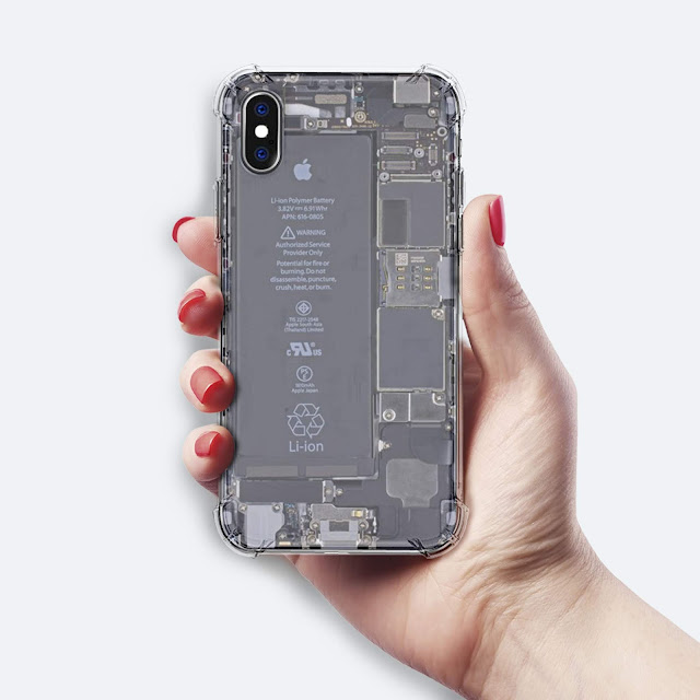 Mockup Softcase Anti Crack iPhone X