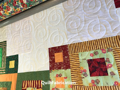Zen Garden quilting progress