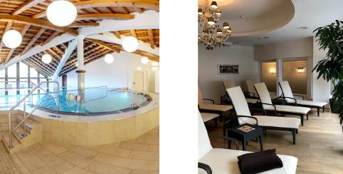 Hallenbad und Ruheraum im Familienhotel Hopfgarten****