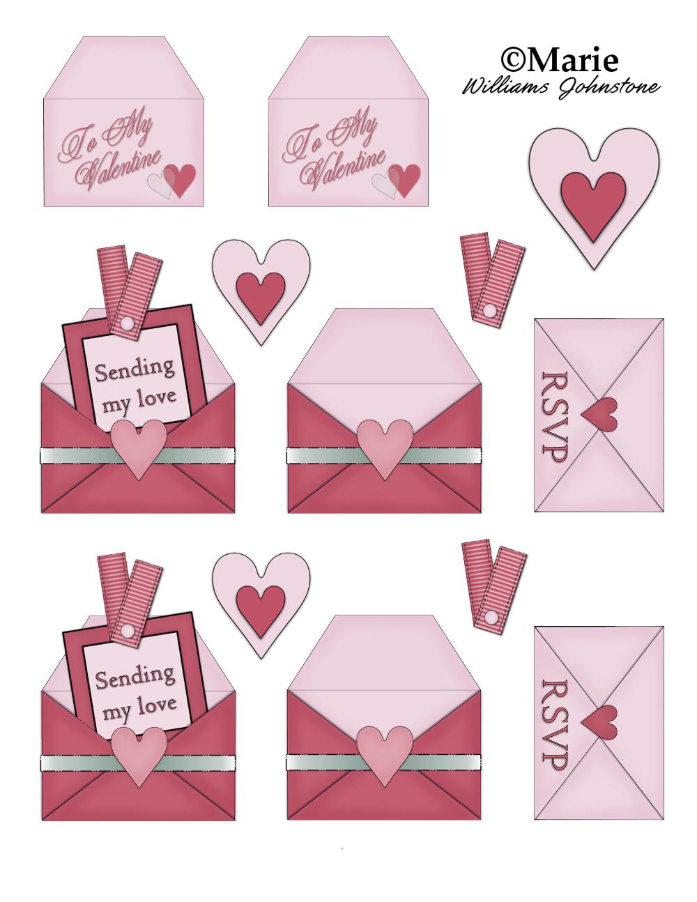 Cute Valentine Card Printables Free