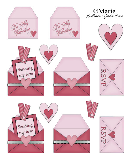 Free printable Valentine's Day sheet from CraftyMarie