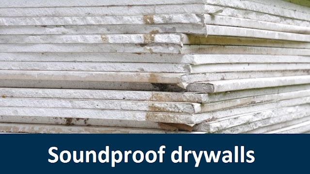 Soundproof drywalls