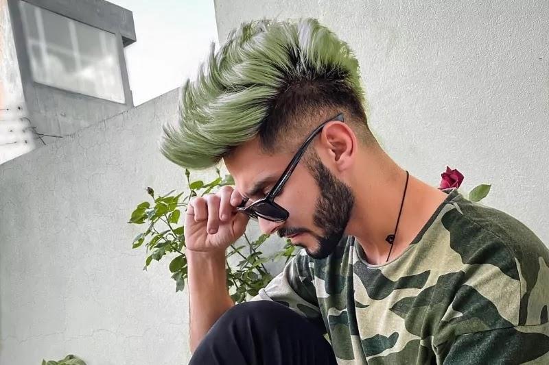 Fluorescent Hair colour.