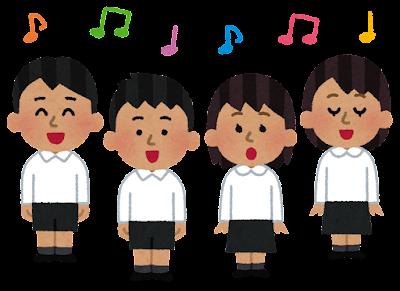 子供の合唱のイラスト(東南アジア人・フォーマル)
