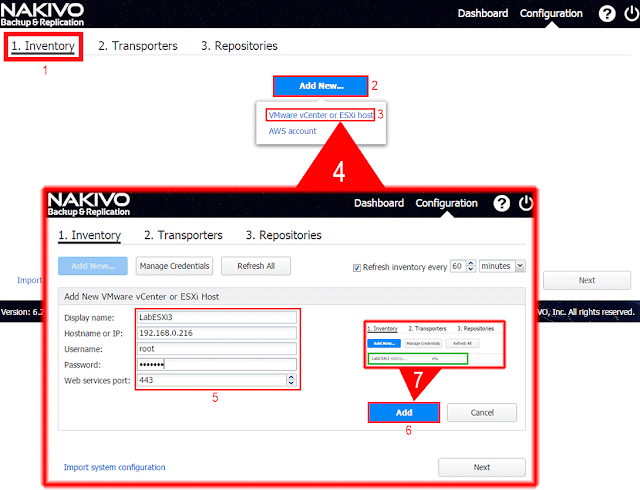 Nakivo Backup & Replication, configurar Inventory.