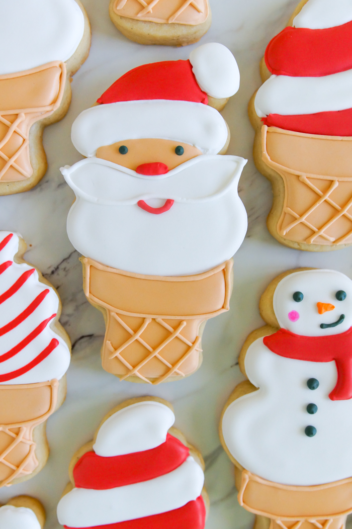 Christmas in July : Santa and Snowman Ice Cream Cookies