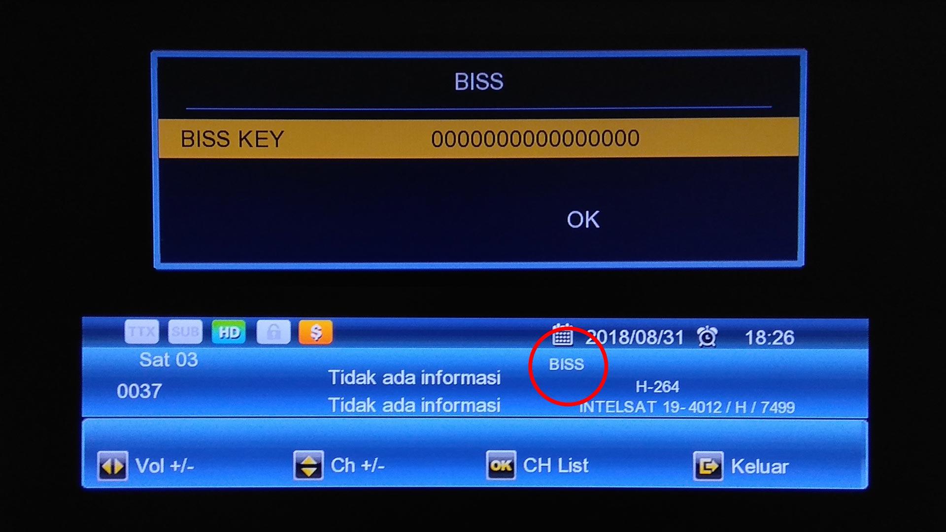 cara memasukan kode biss key matrix burger s8 hd
