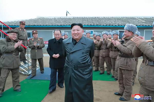 Kim Jong Un at test-fire of super-large MLRS, November 2019