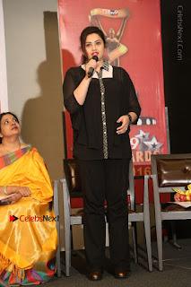 Tamil Actress Meena Latest Stills in Black Dress at TSR TV9 Awards Press Meet  0154.JPG