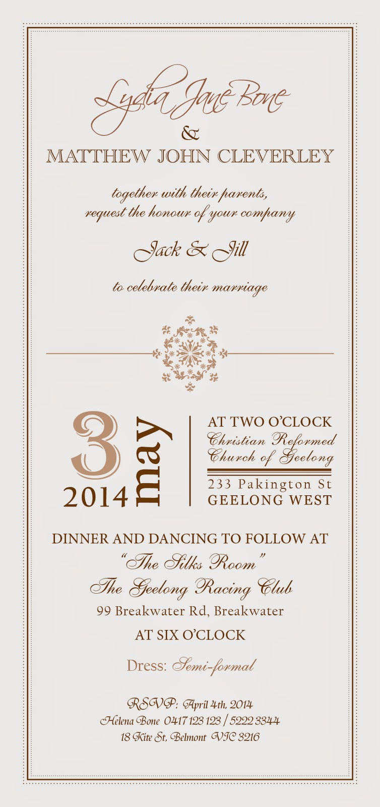 loulet design: Wedding Invitations