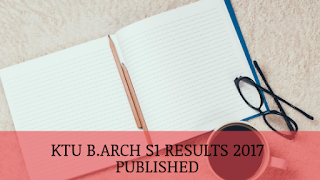 KTU B.Arch S1 Results 2017