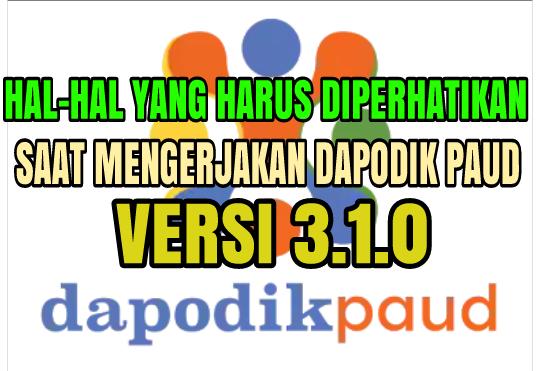 Pengisian Dapodik PAUD Semester 2017/2018 Semester I (Ganjil)