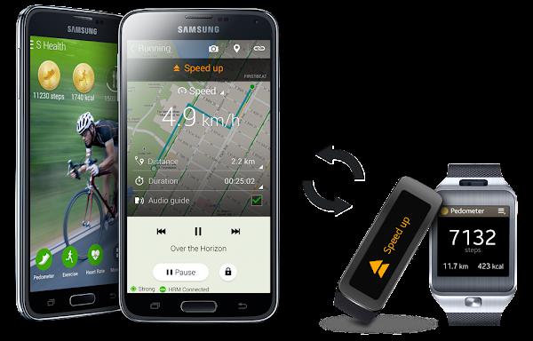 Samsung Galaxy S5 S Health Apps