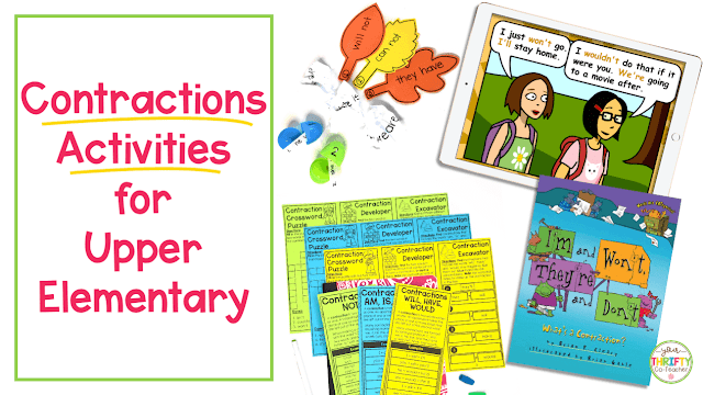 Can your students still use some help with contractions? These contractions activities for upper elementary students will help them master the skill.