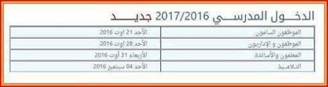 الجزائر:التحاق الاساتذة 31 غشت 2016 و التلاميذ 4 شتنبر 2016