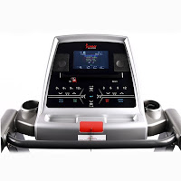 "Sunny Health & Fitness SF-T1413/SF-T1414 workout console with 7"" LCD display"