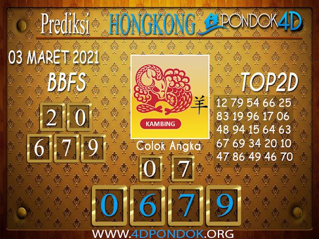 Prediksi Togel HONGKONG PONDOK4D 03 MARET 2021