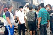 Ratusan Kios Pedagang Pajak Lama di Sergai Musnah Terbakar