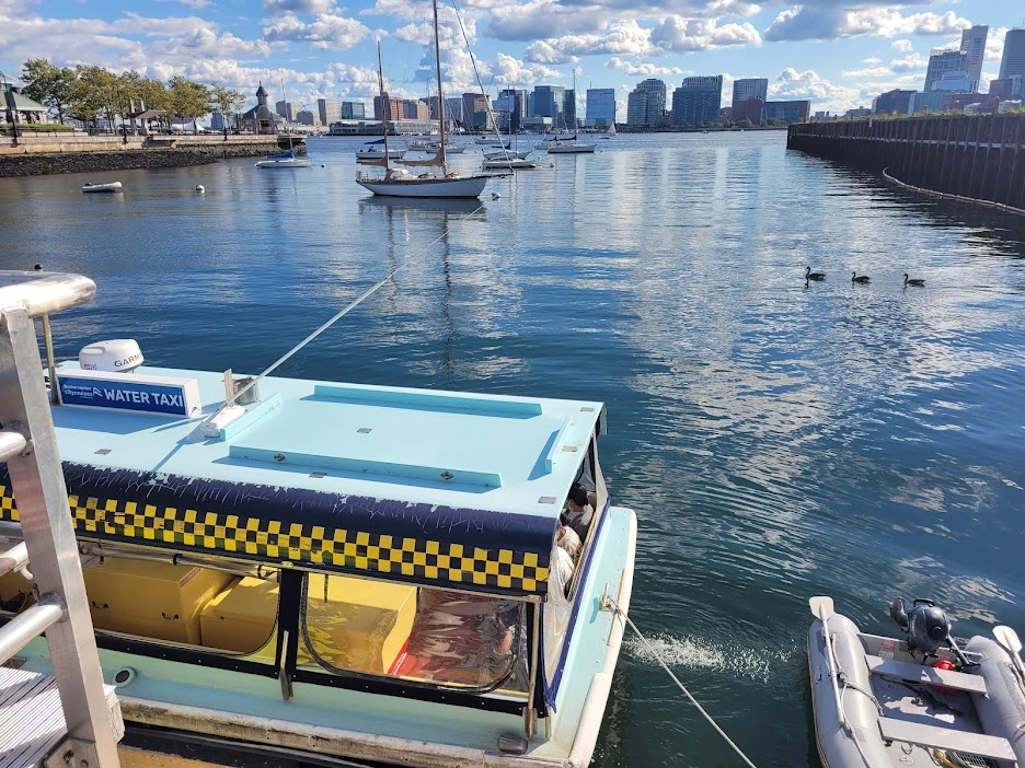 ICA water taxi, on the East Boston side