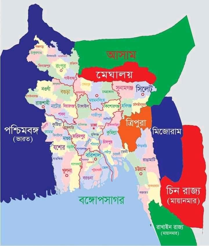 বাংলাদেশের ৬৪ জেলা ও সীমানার পূর্ণাঙ্গ ম্যাপ Pdf Download