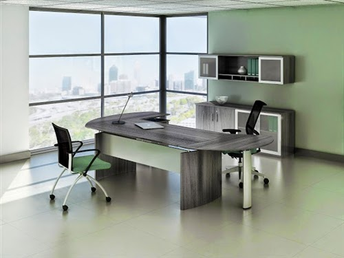 Mayline Gray Steel Desk