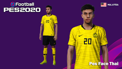 PES 2020 Faces Syafiq Ahmad by PESFaceThai