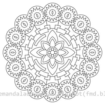 Free Printable Mandala-Kostenlose Druck Mandala - Free Mandala