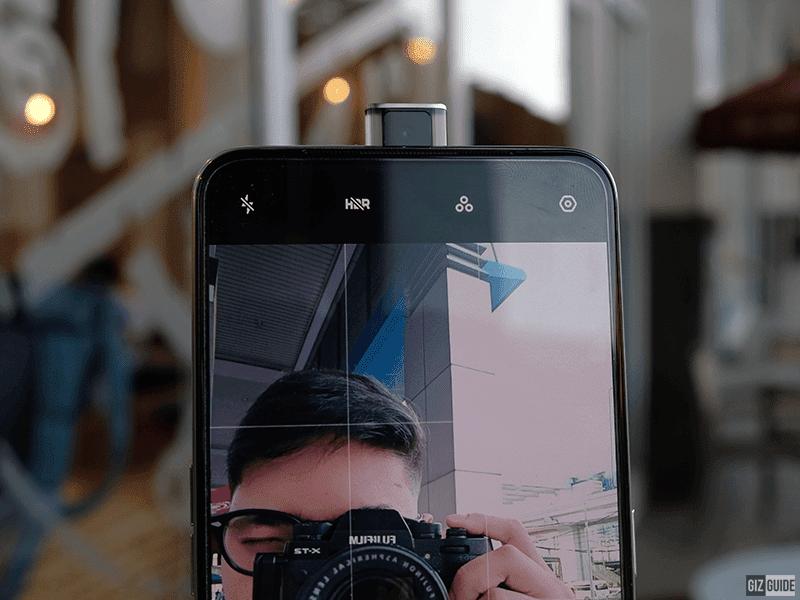 A closer look at the front-facing pop-up camera