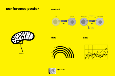Conference poster in No Name style with bright yellow background and black Helvetica text