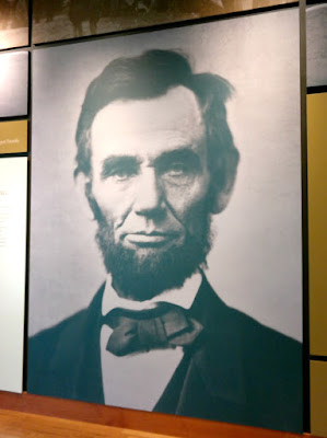 President Lincoln Portrait at Gettysburg National Military Park Museum