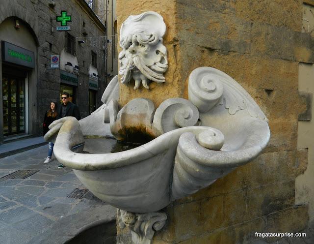 Fontana del Sprone, em Oltrarno, Florença