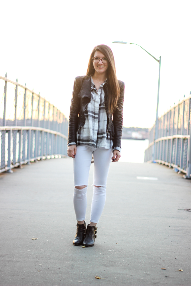 White After Labor Day + Plaid Tunic